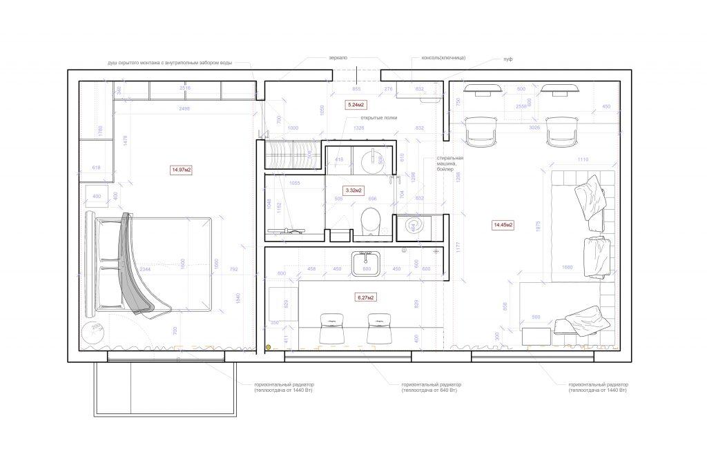 3перепланировка2 - План этажа - Уровень 1