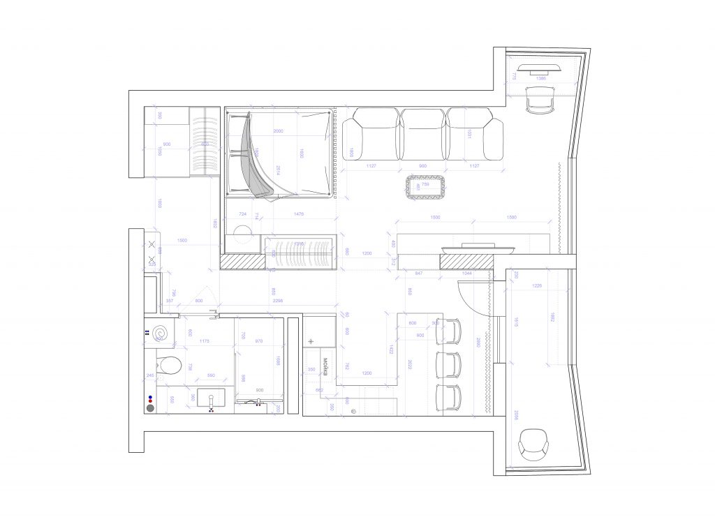 dontsa - План этажа - 4 план перепланировки