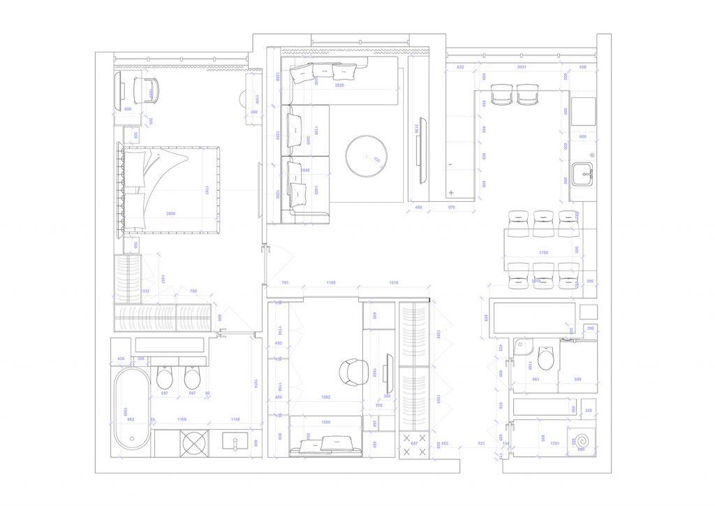 4,4 - План этажа - 4 план перепланировки