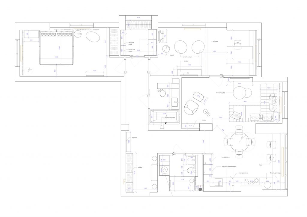 глушкова - План этажа - 4 план перепланировки