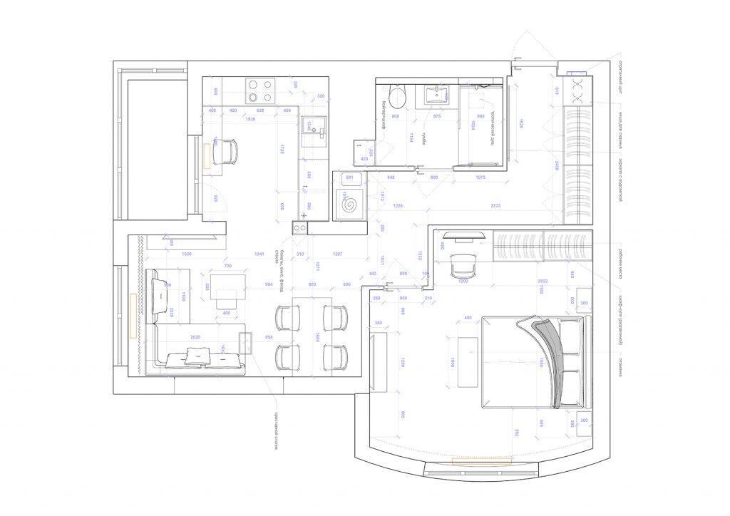 крушельницкой - План этажа - 4 план перепланировки