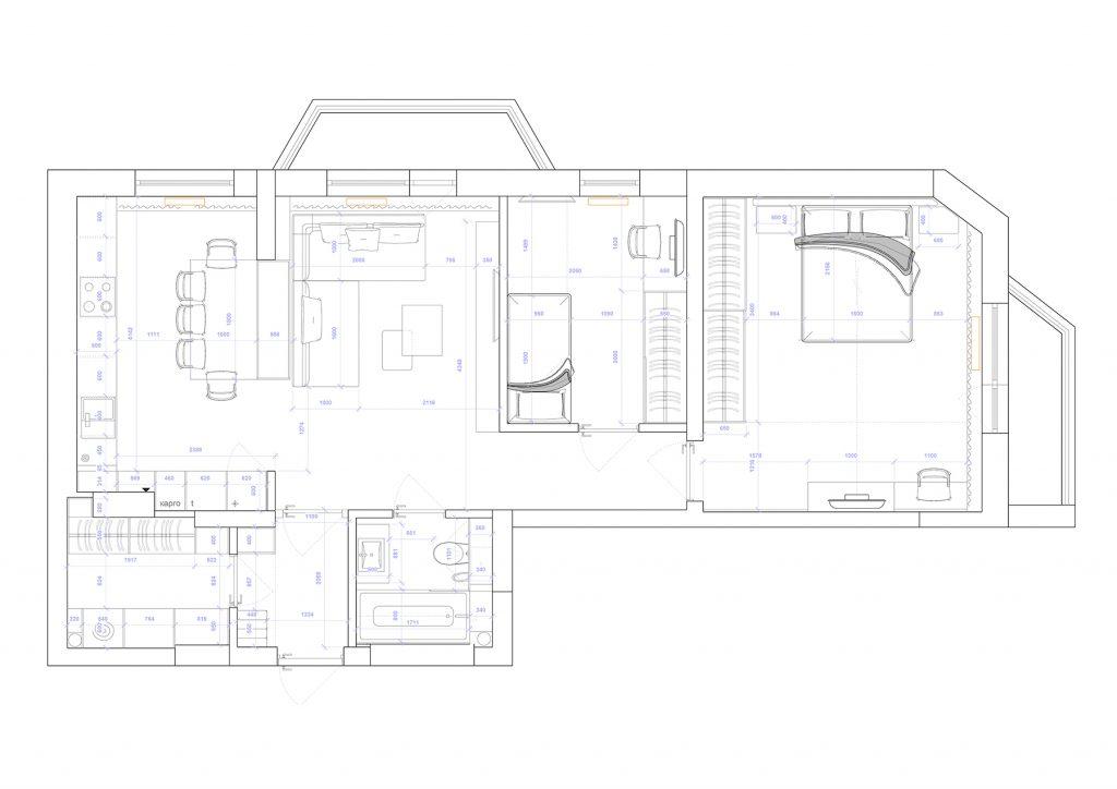 династия - План этажа - 4 план перепланировки
