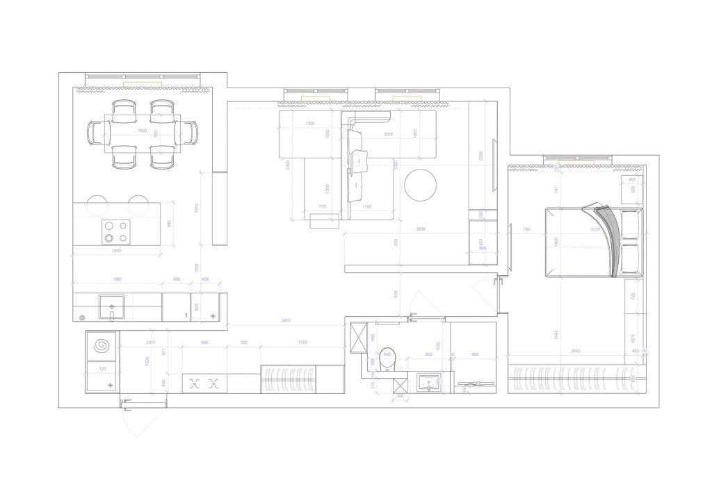 никольско-слободская - План этажа - 4 план перепланировки