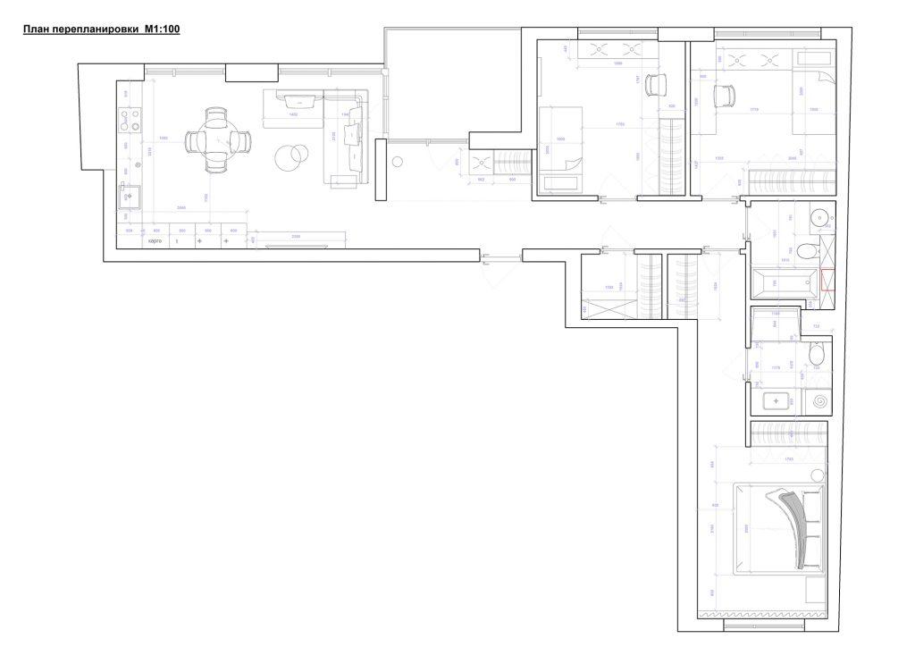 заречный финальный ноутбук - План этажа - 4 план перепланировки